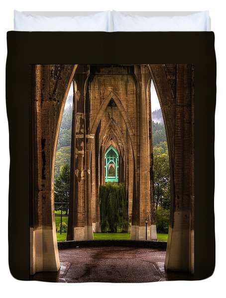 St. Johns Bridge Duvet Cover