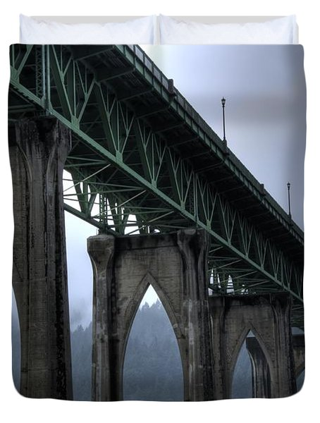 St Johns Bridge Oregon Duvet Cover
