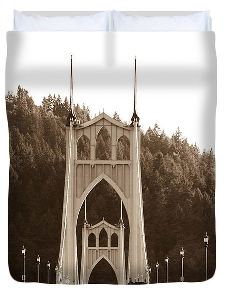St. John's Bridge Duvet Cover