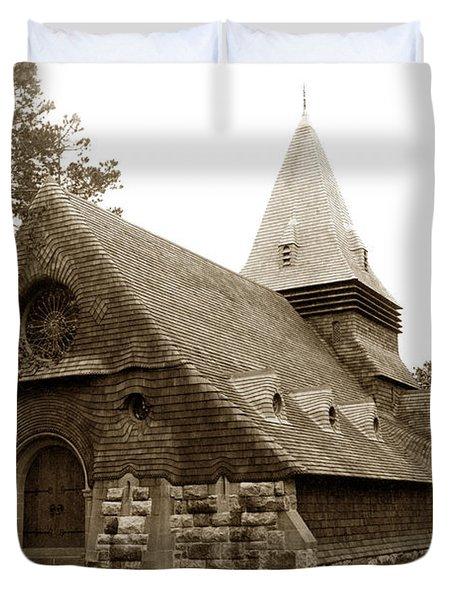 St. Johns Chapel Del Monte Monterey California 1895 Duvet Cover