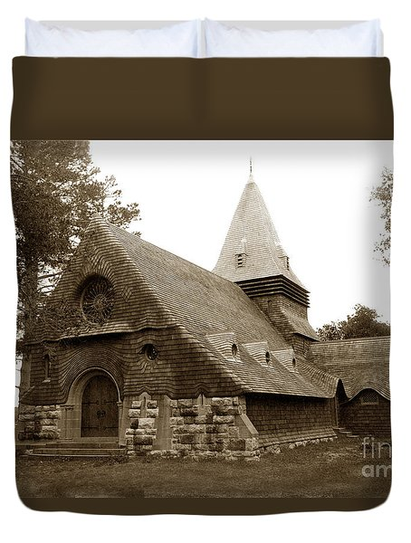 St. Johns Chapel Del Monte Monterey California 1895 Duvet Cover