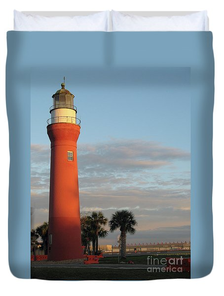 St. Johns River Lighthouse II Duvet Cover by Christiane Schulze Art And Photography