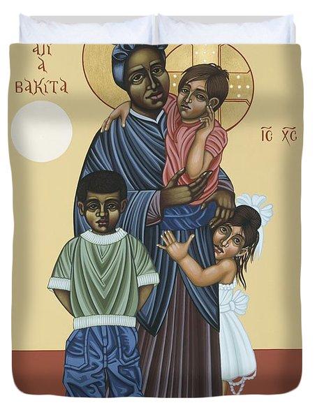 St. Josephine Bakhita Universal Sister 095 Duvet Cover