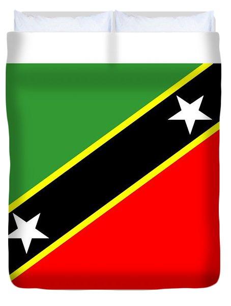 St. Kitts And Nevis Flag Duvet Cover
