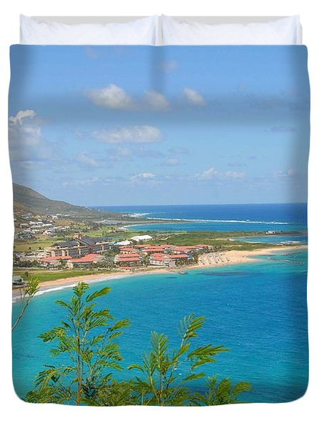 St. Kitts Duvet Cover by Cindy Manero