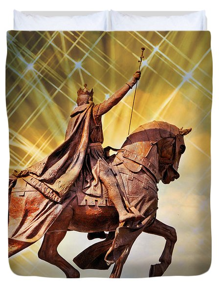 Duvet Cover featuring the photograph St. Louis 5 by Marty Koch