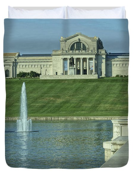 St Louis Art Museum And Grand Basin Duvet Cover