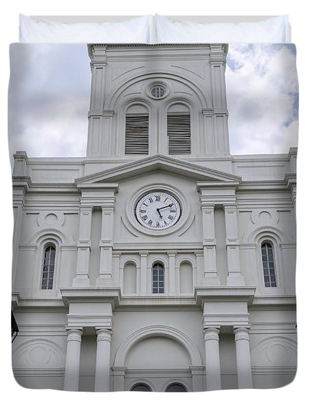 St. Louis Cathedral Close-up Duvet Cover