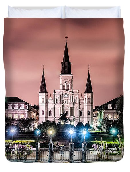 St. Louis Cathedral In The Morning Duvet Cover