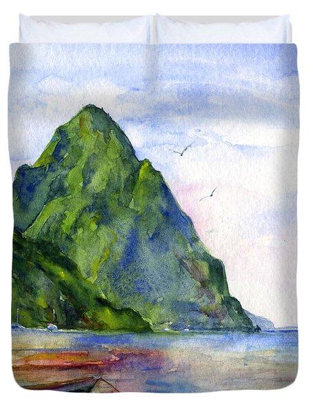 St. Lucia Duvet Cover by John D Benson