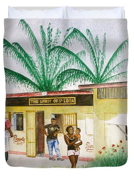 St. Lucia Store Duvet Cover