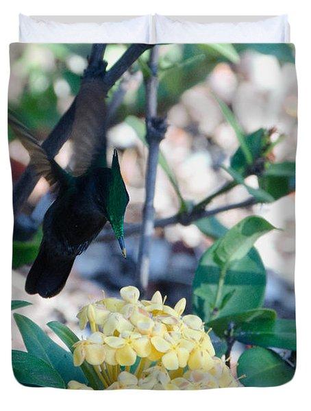 St. Lucian Hummingbird Duvet Cover