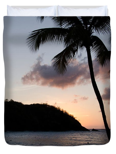 St. Lucian Sunset Duvet Cover