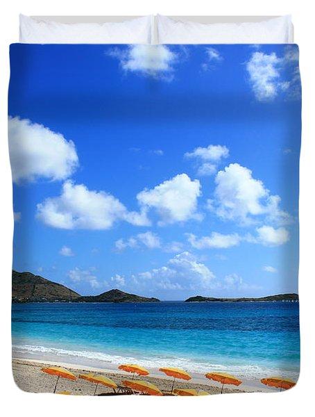 St. Maarten Calm Sea Duvet Cover