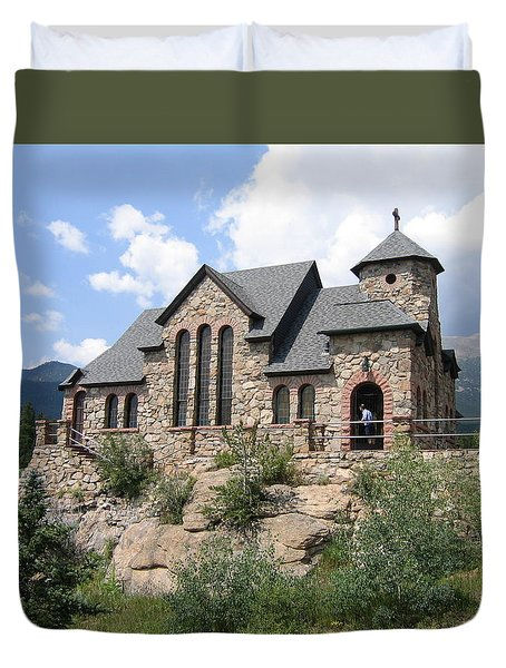 Duvet Cover featuring the photograph St. Malo Church by Suzanne Theis
