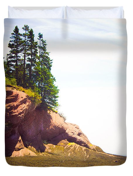 St. Martin's Sea Caves Duvet Cover by Sara Frank