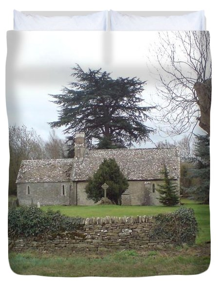 St Mary Church Ampney Duvet Cover by John Williams