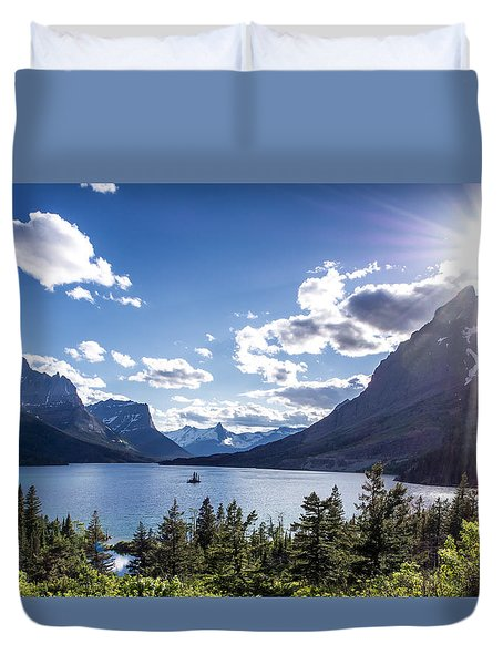 St. Mary Lake Duvet Cover