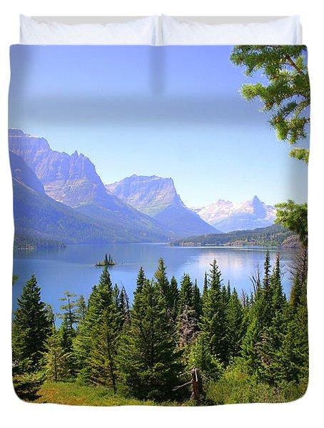 St. Mary Lake Duvet Cover