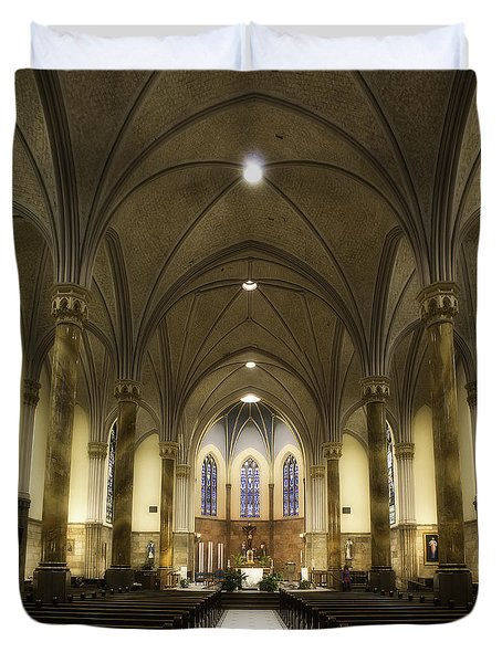 St Mary's Catholic Church Duvet Cover