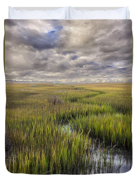 St Mary's Island Georgia Duvet Cover by Gary Warnimont