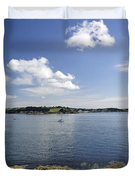 St Mawes From Pendennis Point Duvet Cover by Rod Johnson