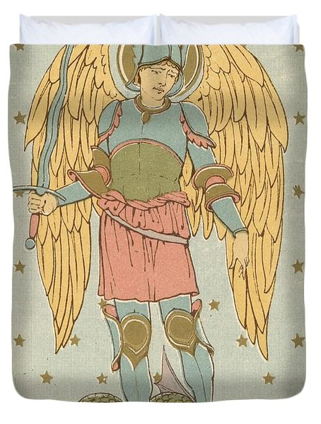 St Michael And All Angels By English School Duvet Cover by English School