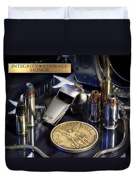 St Michael Law Enforcement Duvet Cover