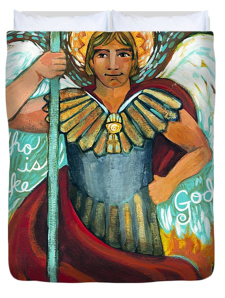 St. Michael The Archangel Duvet Cover