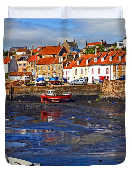 Duvet Cover featuring the photograph St Monans Fife by Craig B