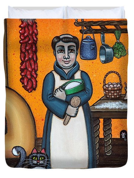 St. Pascual Making Bread Duvet Cover