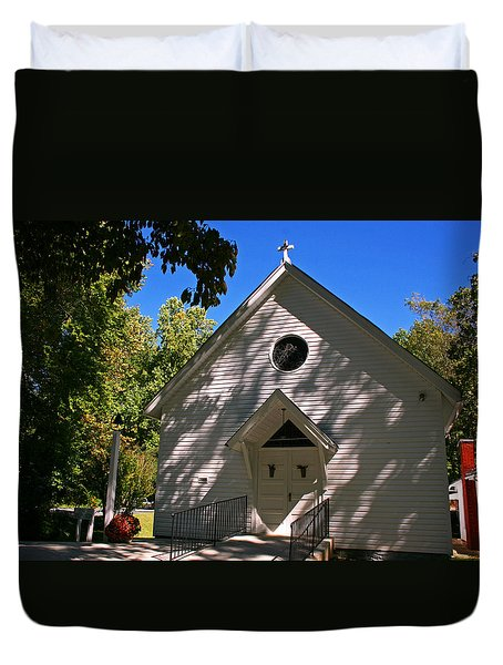 St. Paul  Episcopal Mission Amherst Va Duvet Cover by Andy Lawless
