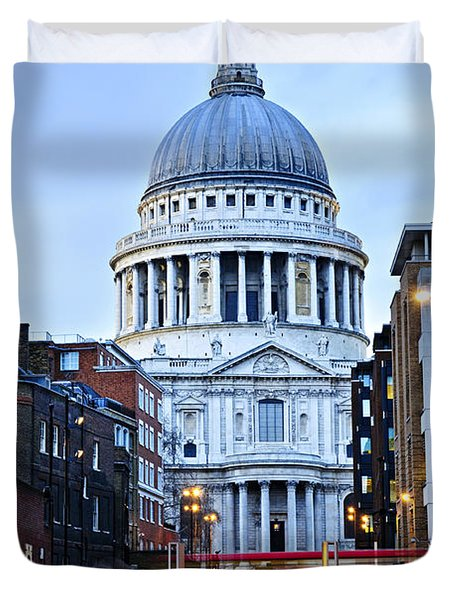 St. Paul's Cathedral At Dusk Duvet Cover by Elena Elisseeva