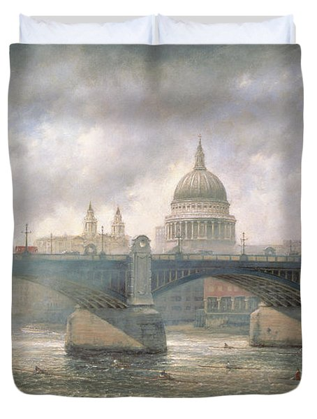 St. Paul's Cathedral From The Southwark Bank Duvet Cover by Richard Willis