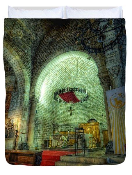 St Pere De Puelles Church - Barcelona Duvet Cover