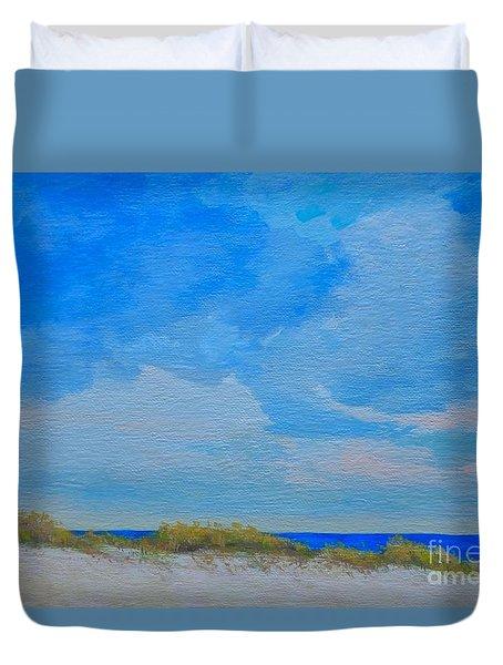 St. Pete Beach Spring Duvet Cover