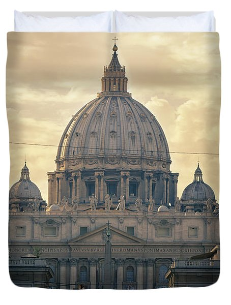 St Peter's Afternoon Glow Duvet Cover by Joan Carroll