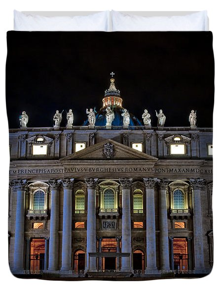 St Peter's At Night Duvet Cover