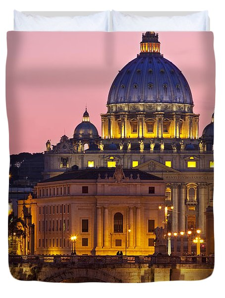 Duvet Cover featuring the photograph St Peters Basilica by Brian Jannsen