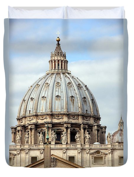 St. Peters Basilica Duvet Cover by Debi Demetrion