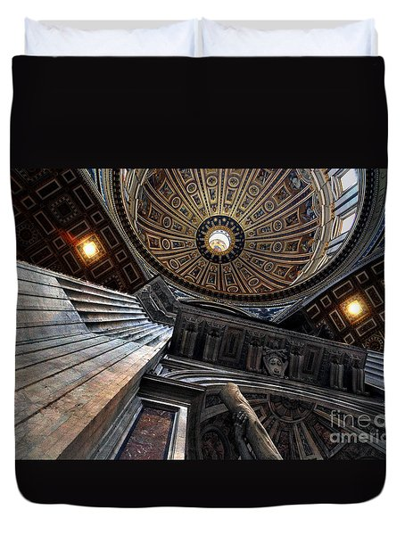 St. Peter's Basilica Interior Under Dome Duvet Cover