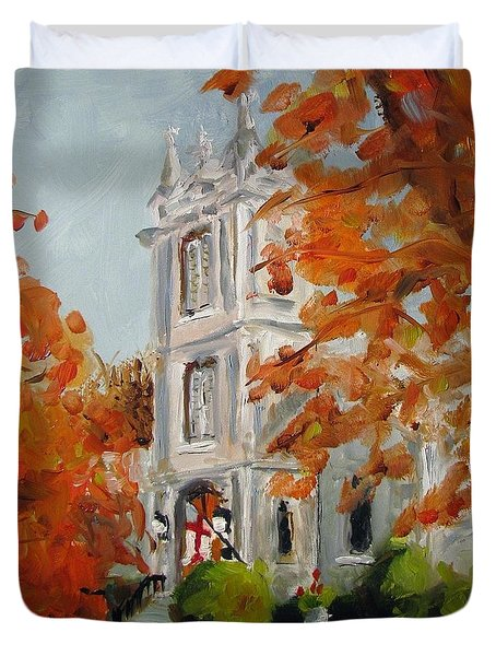 St Peters Episcopal Church Duvet Cover by Susan E Jones
