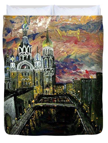 St  Petersburg Duvet Cover by Mark Moore