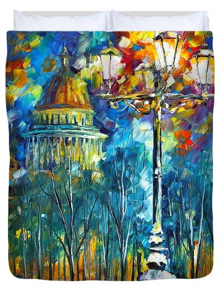 St. Petersburg New Duvet Cover by Leonid Afremov