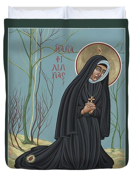 Duvet Cover featuring the painting St. Philippine Duchesne 259 by William Hart McNichols