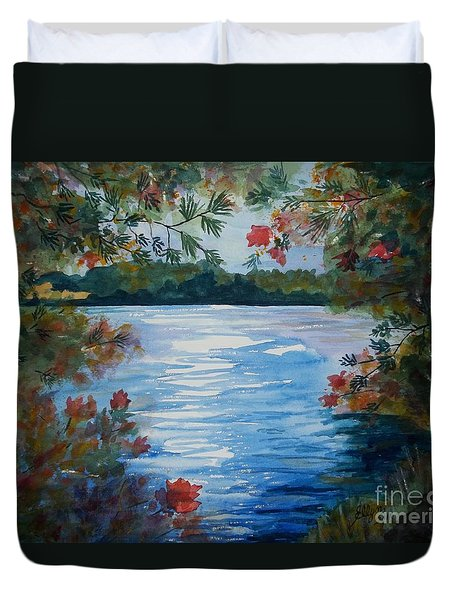 St. Regis Lake Duvet Cover