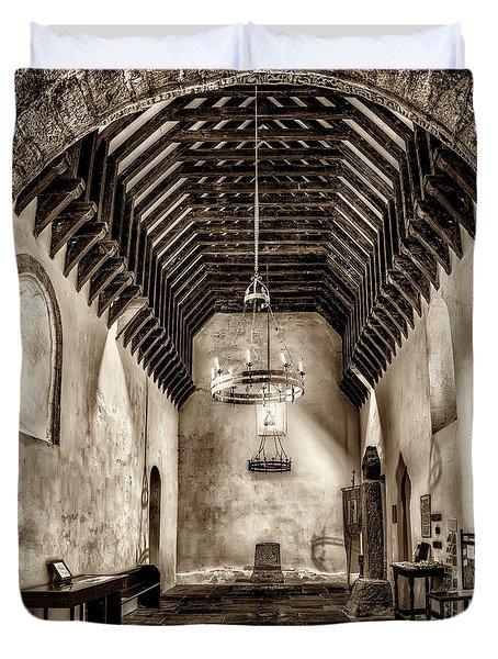 St Seirio Church Duvet Cover by Adrian Evans