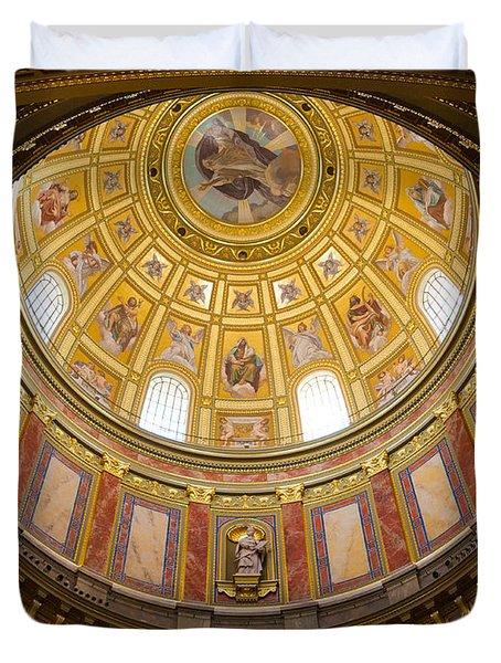 St. Stephen's Basilica Ceiling Duvet Cover