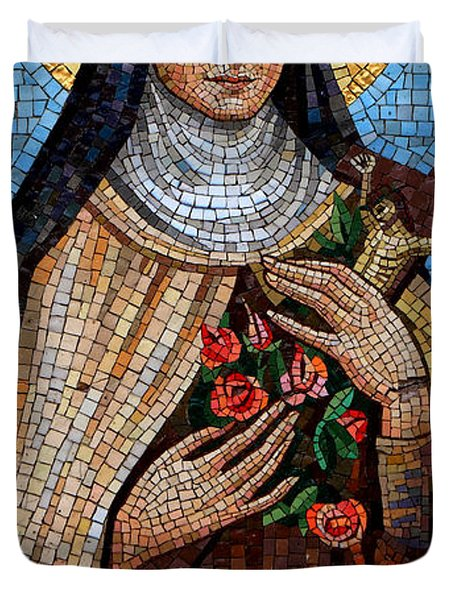 St. Theresa Mosaic Duvet Cover