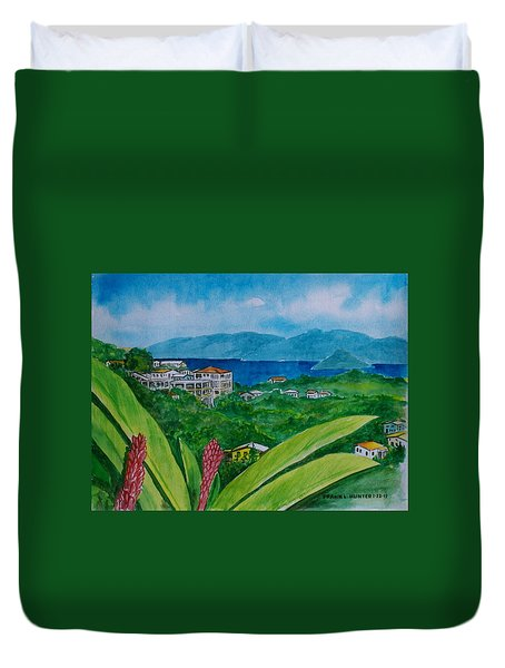 St. Thomas Virgin Islands Duvet Cover by Frank Hunter